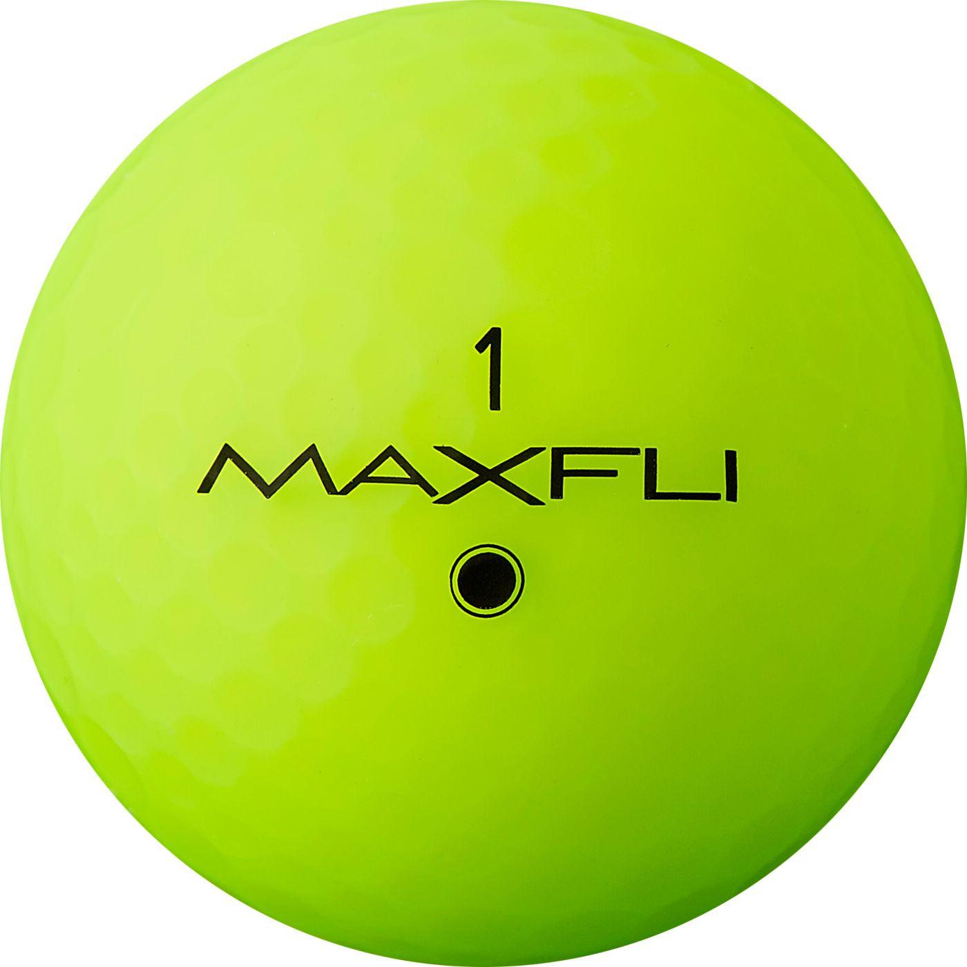 Maxfli StraightFli Matte Green Personalized Golf Balls