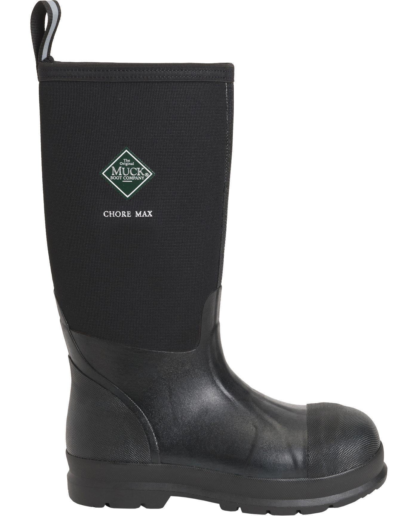 Muck Boots Men's Chore Max Hi Composite Toe Rubber Work Boots