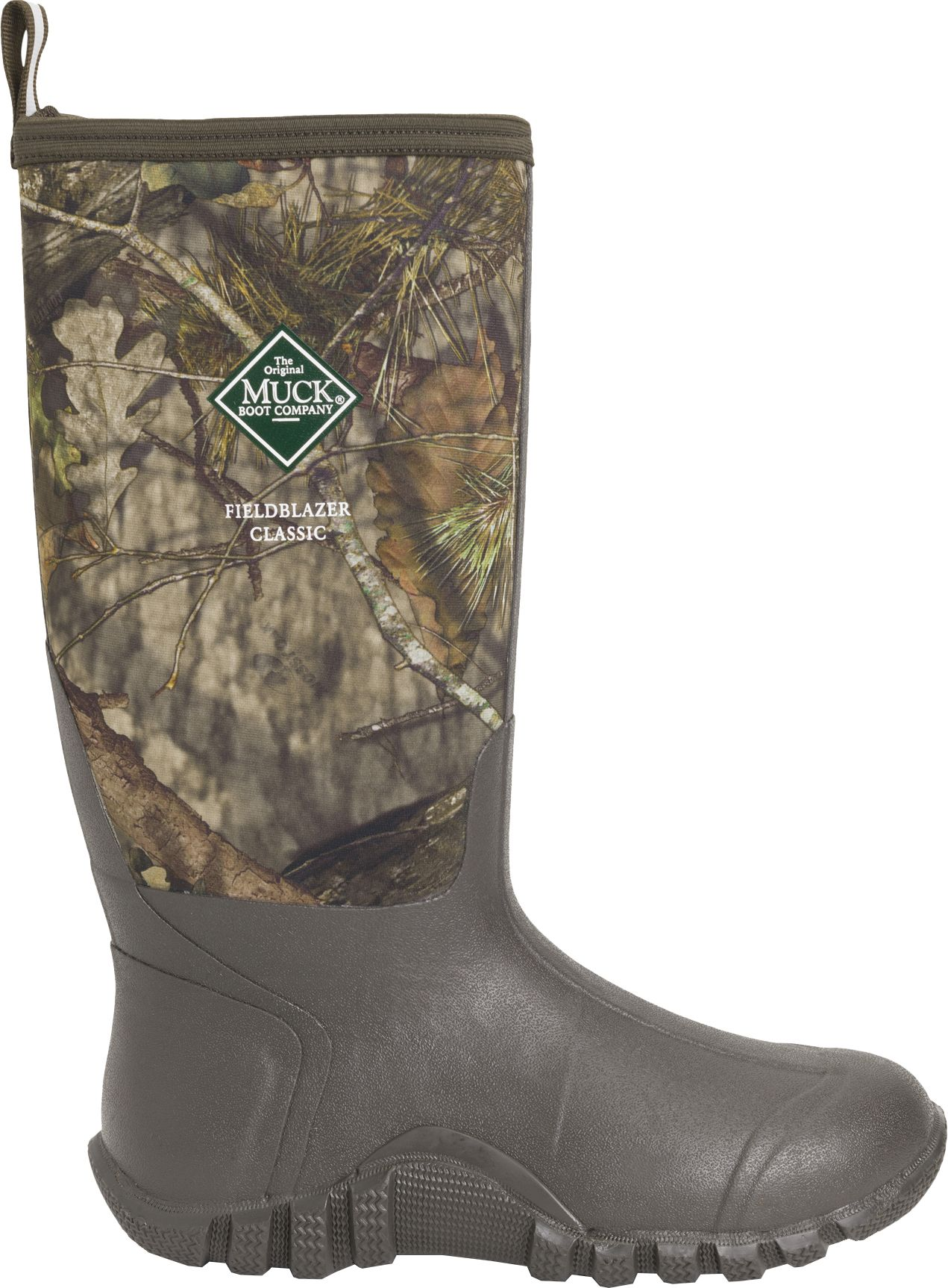 Muck Boots Men's Fieldblazer Classic Mossy Oak Rubber Hunting Boots, Size: 6.0, Mossy Oak Country