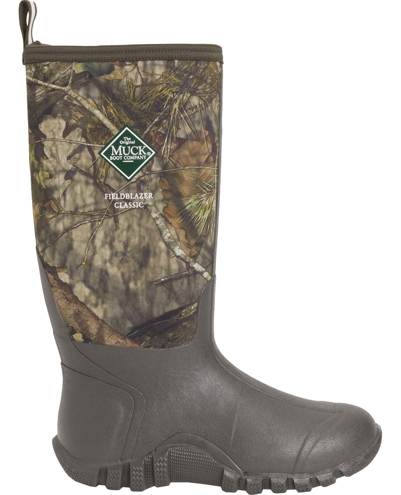Muck Boots Men's Fieldblazer Classic Mossy Oak Rubber Hunting Boots