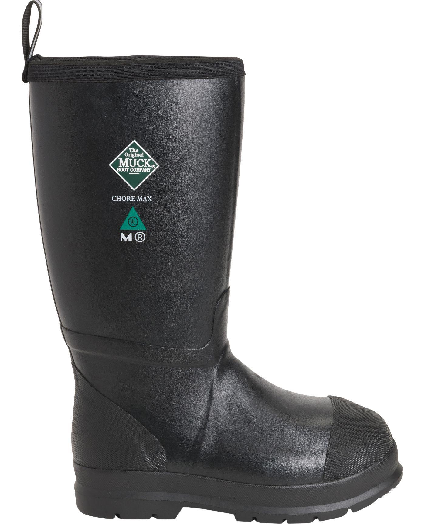 Muck Boots Men's Chore Max Resistant Waterproof Composite Toe Work Boots