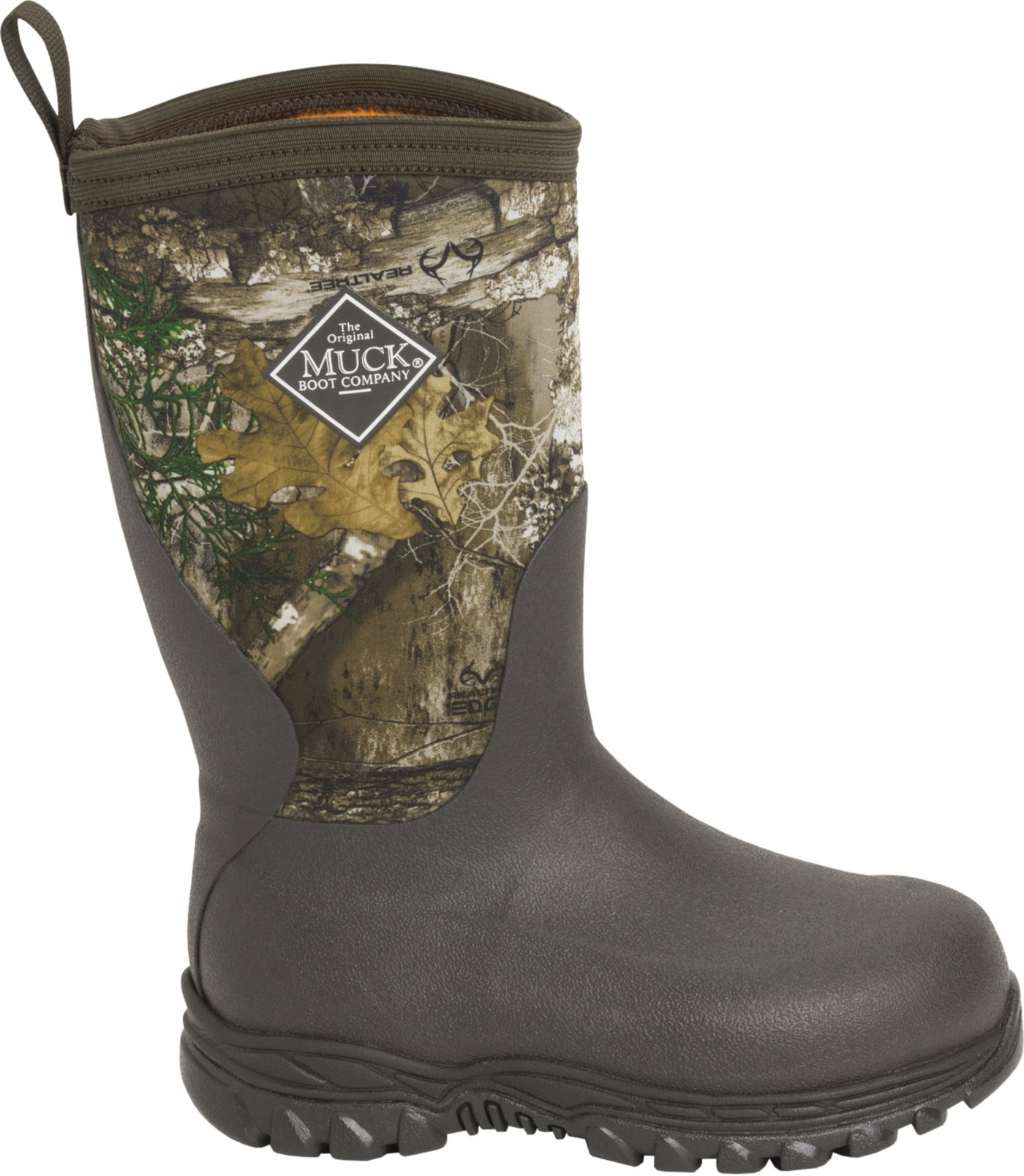 Muck Boots Kids' Rugged II Realtree Edge Rubber Hunting Boots