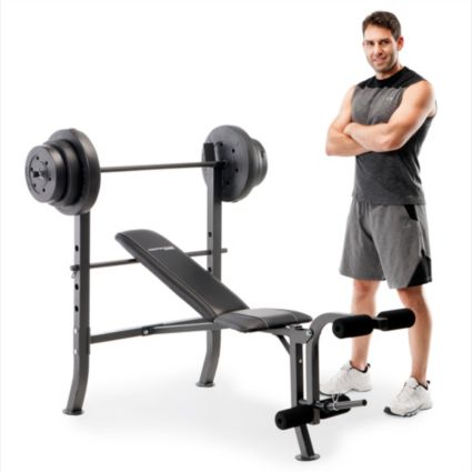 Marcy Standard Bench with 100 lb. Weight Set