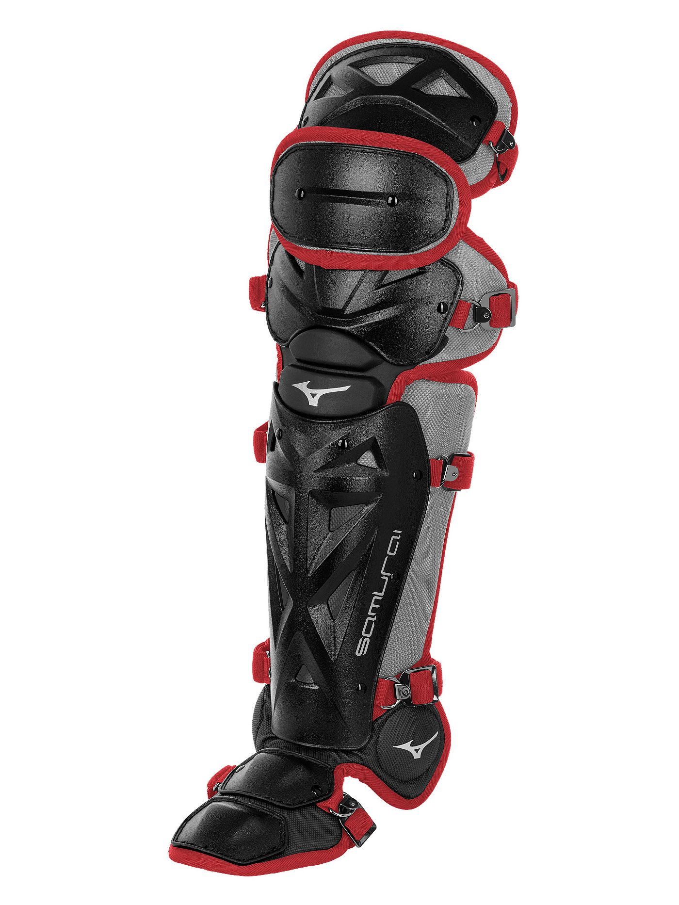 Mizuno Girls' Samurai Fastpitch Catcher's Leg Guards 2019