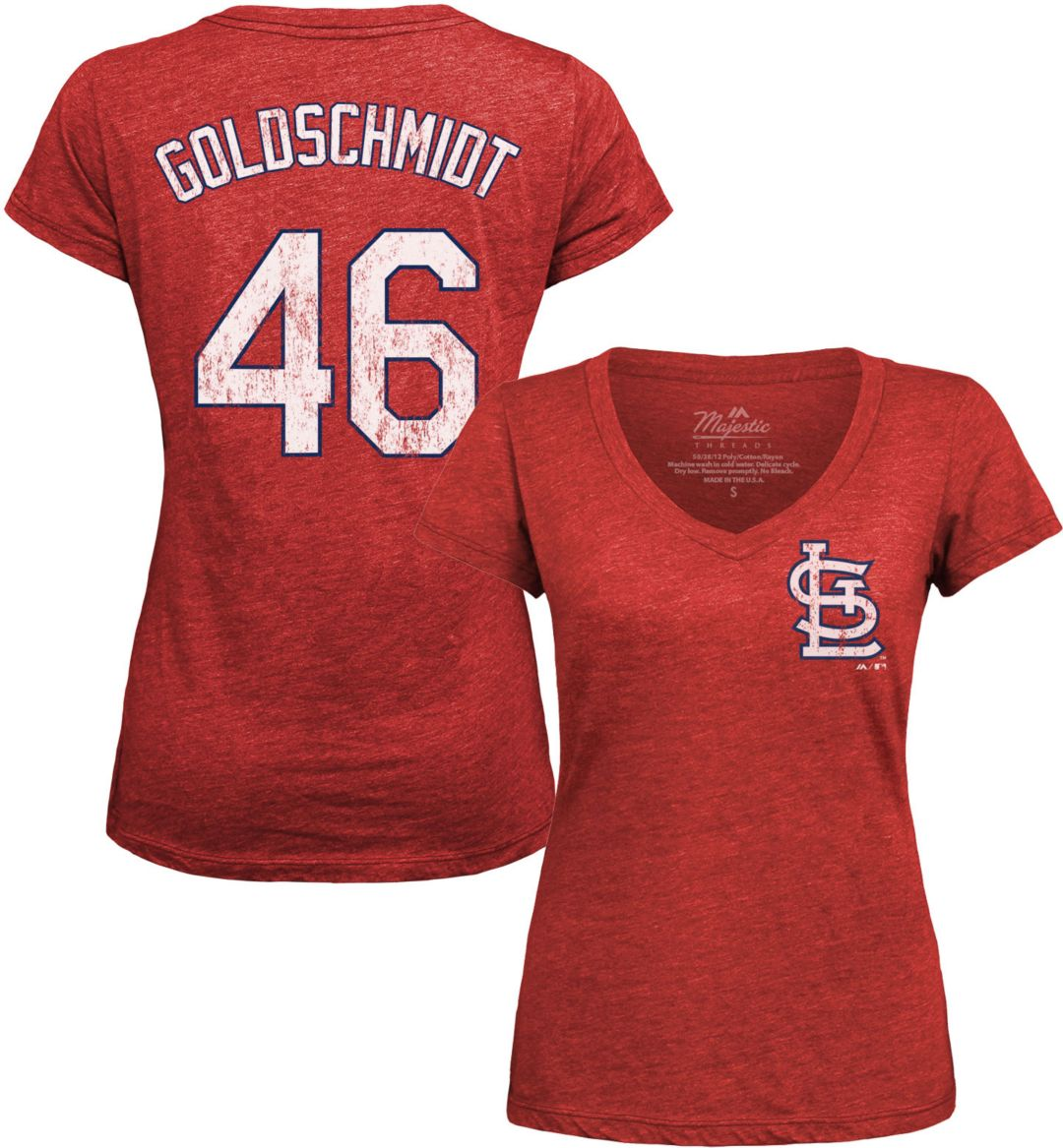 best sneakers e5c7c f95cd Majestic Threads Women's St. Louis Cardinals Paul Goldschmidt V-Neck T-Shirt