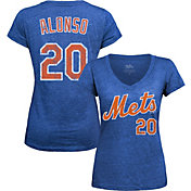 Majestic Threads Women's New York Mets Pete Alonso Royal V-Neck T-Shirt