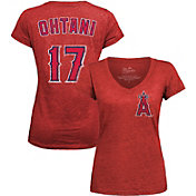 Majestic Threads Women's Los Angeles Angels Shohei Ohtani V-Neck T-Shirt