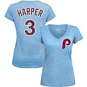 Majestic Threads Women's Philadelphia Phillies Bryce Harper V-Neck T-Shirt
