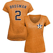 Majestic Threads Women's Houston Astros Alex Bregman V-Neck T-Shirt