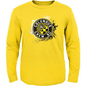 MLS Youth Columbus Crew Splashin' Yellow Long Sleeve Shirt