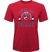 MLS Youth FC Dallas Retro Red Heathered Tri-Blend T-Shirt