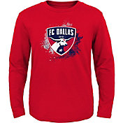 MLS Youth FC Dallas Splashin' Red Long Sleeve Shirt
