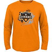 MLS Youth Houston Dynamo Splashin' Orange Long Sleeve Shirt