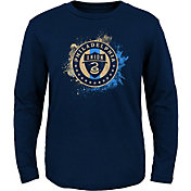 MLS Youth Philadelphia Union Splashin' Navy Long Sleeve Shirt