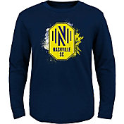 MLS Youth Nashville SC Splashin' Navy Long Sleeve Shirt