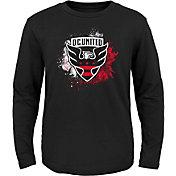 MLS Youth D.C. United Splashin' Black Long Sleeve Shirt