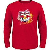 MLS Youth New York Red Bulls Splashin' Red Long Sleeve Shirt