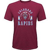 MLS Youth Colorado Rapids Retro Maroon Heathered Tri-Blend T-Shirt