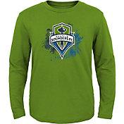 MLS Youth Seattle Sounders Splashin' Green Long Sleeve Shirt