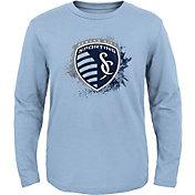 MLS Youth Sporting Kansas City Splashin' Blue Long Sleeve Shirt