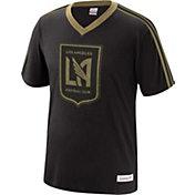 Mitchell & Ness Men's Los Angeles FC Overtime Black V-Neck T-Shirt