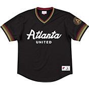 Mitchell & Ness Men's Atlanta United Mesh Black V-Neck T-Shirt