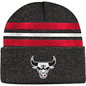 Mitchell & Ness Men's Chicago Bulls Grey Cuffed Knit Beanie