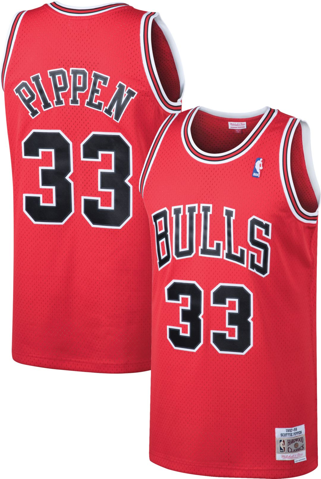 2e6a0d8512f Mitchell   Ness Men s Chicago Bulls Scottie Pippen  33 Swingman ...