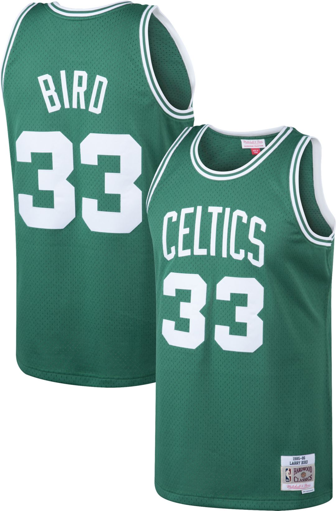 buy online ea6a7 7e382 Mitchell & Ness Men's Boston Celtics Larry Bird #33 Swingman Jersey