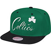 Mitchell & Ness Men's Boston Celtics Wool 2-Tone Wordmark Adjustable Snapback Hat