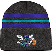 Mitchell & Ness Men's Charlotte Hornets Grey Cuffed Knit Beanie