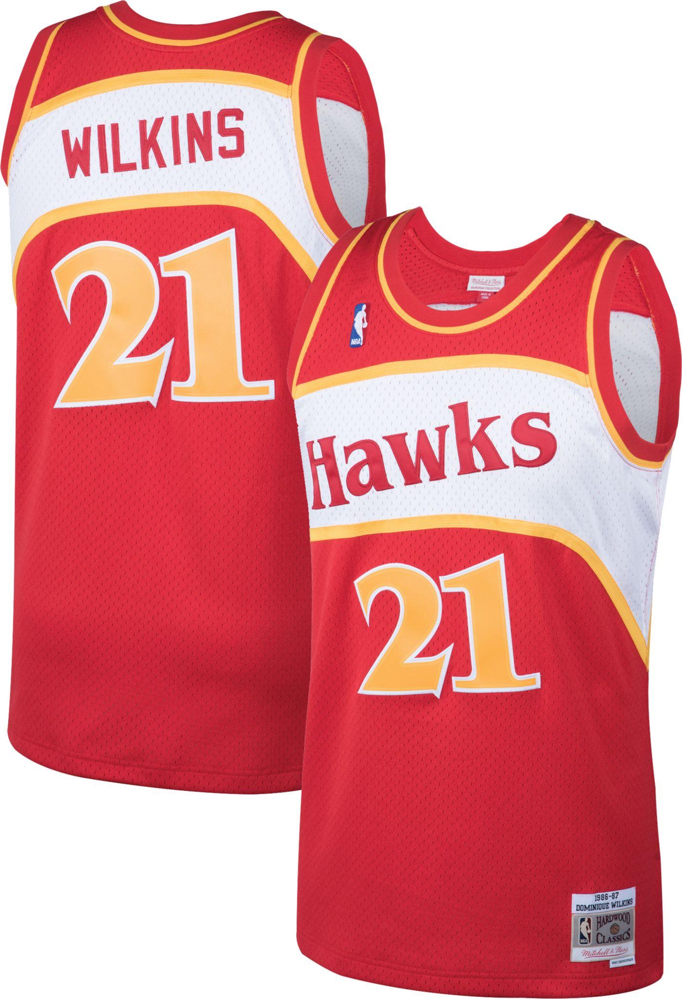 Mitchell & Ness Men's Atlanta Hawks Dominique Wilkins #21 Swingman Jersey
