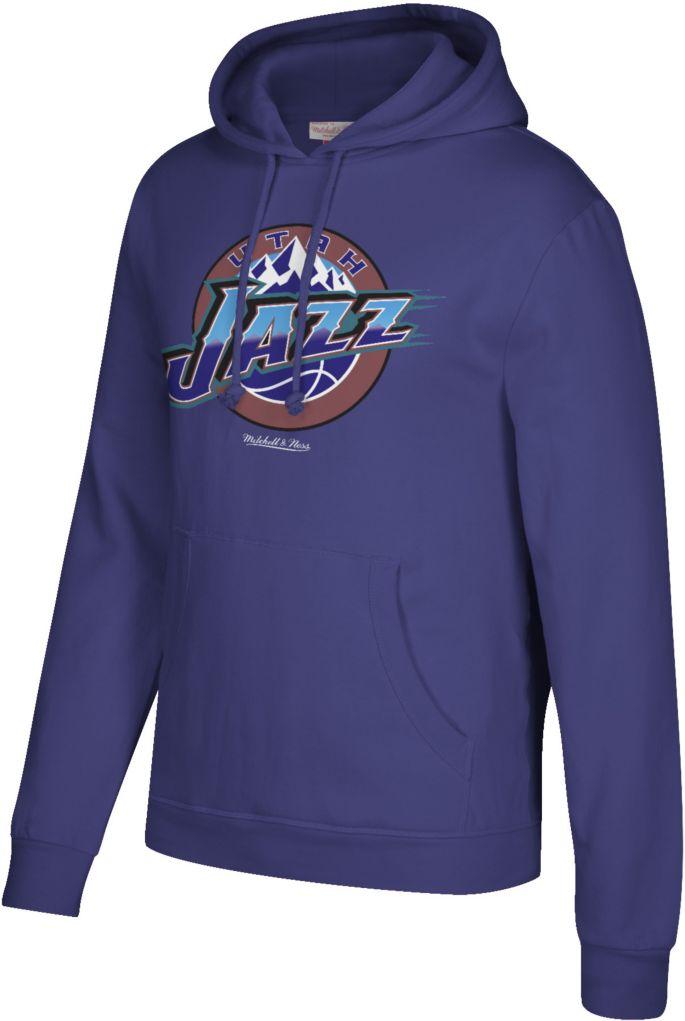 Mitchell & Ness Men's Utah Jazz Hardwood Classic Fleece Pullover Hoodie