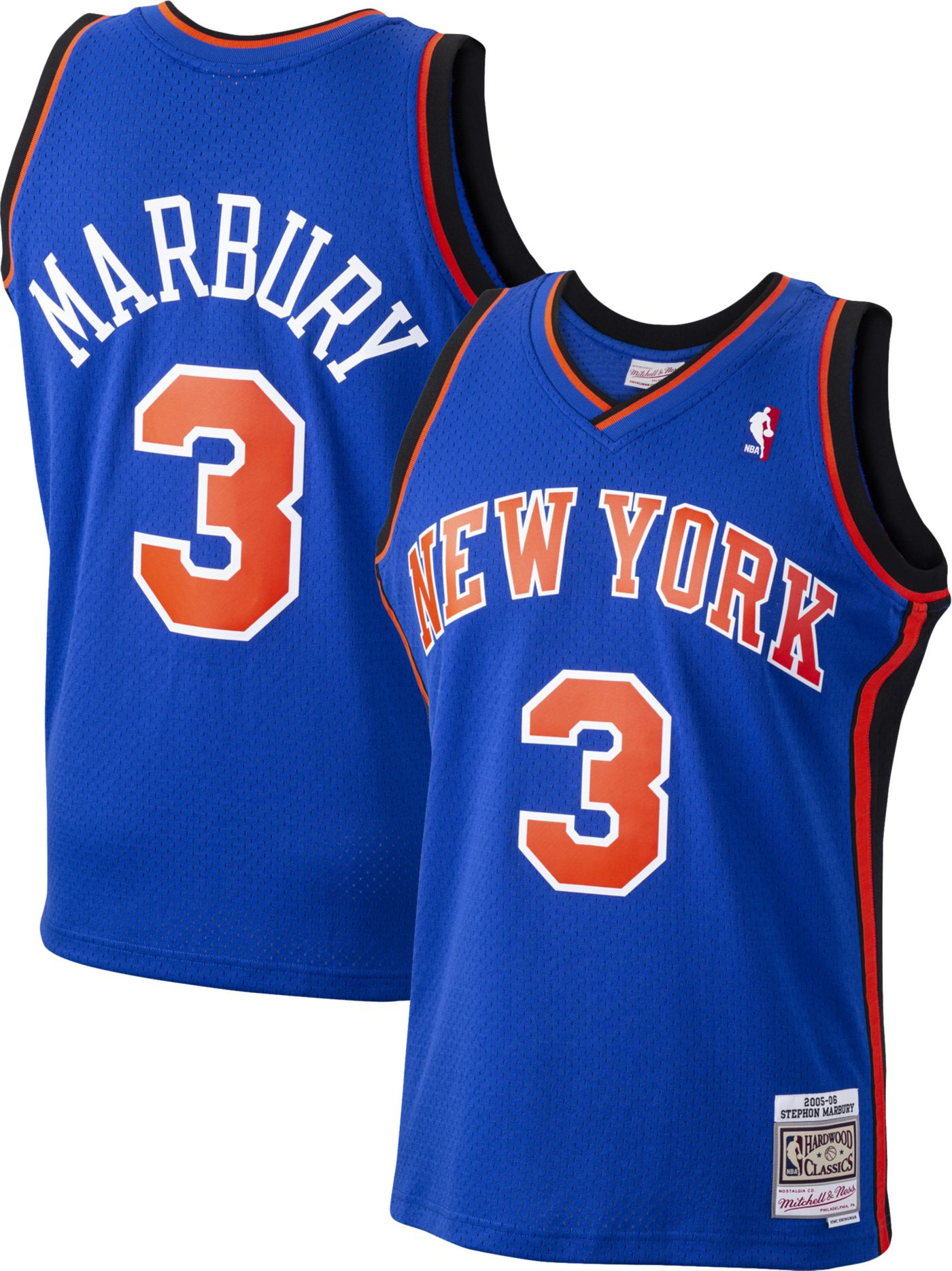 Mitchell & Ness Men's New York Knicks Stephon Marbury #3 Swingman Jersey