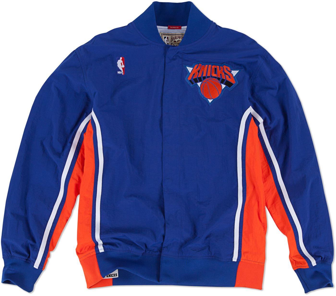 Mitchell & Ness Men's New York Knicks Authentic Warm Up Jacket