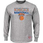 Mitchell & Ness Men's New York Knicks Long Sleeve Logo T-Shirt