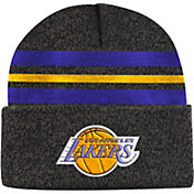 Mitchell & Ness Men's Los Angeles Lakers Grey Cuffed Knit Beanie