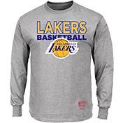 Mitchell & Ness Men's Los Angeles Lakers Long Sleeve Logo T-Shirt