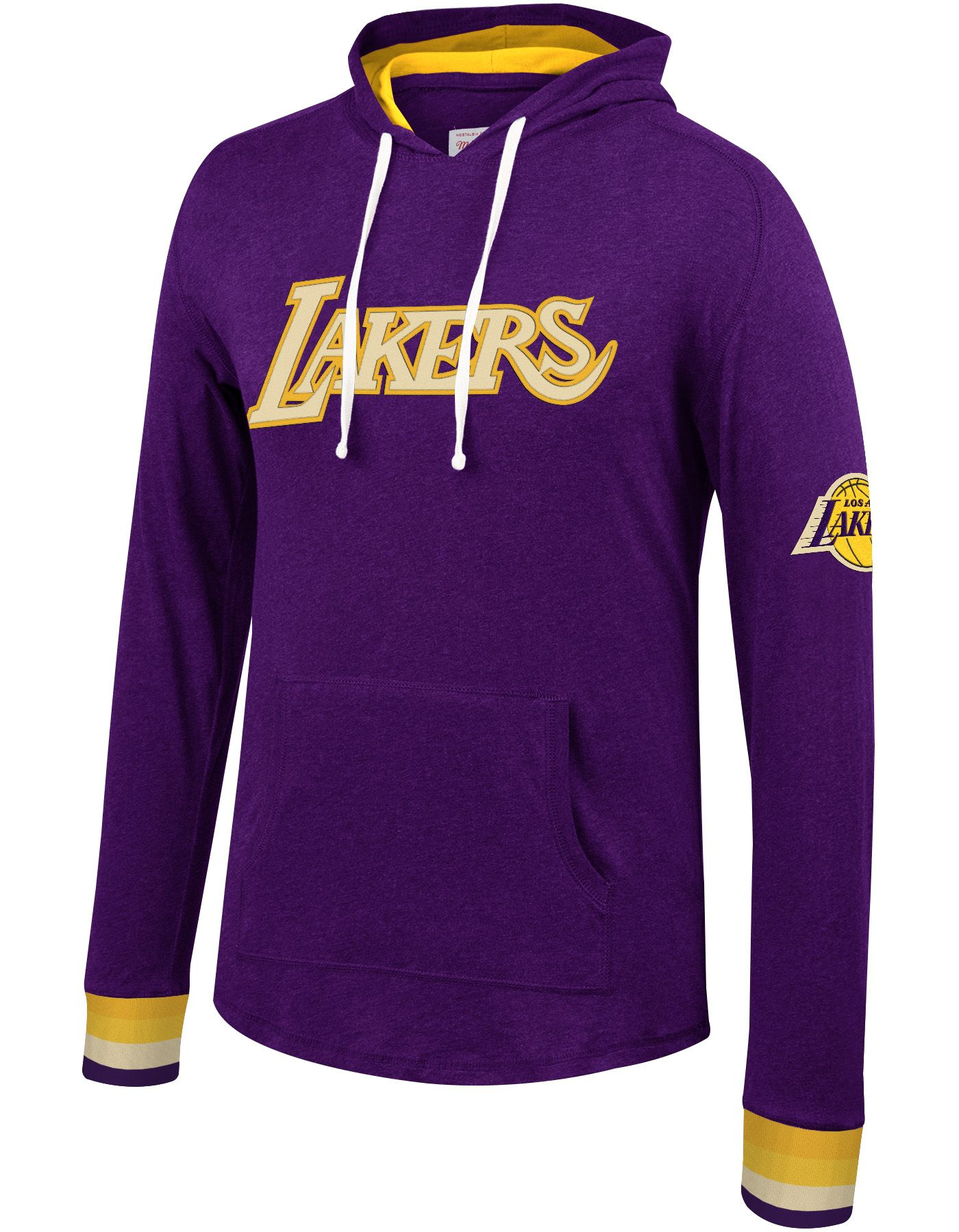 Mitchell & Ness Men's Los Angeles Lakers Long Sleeve Hooded T-Shirt
