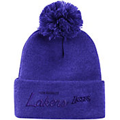 Mitchell & Ness Men's Los Angeles Lakers Pom Cuffed Knit Beanie
