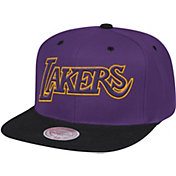Mitchell & Ness Men's Los Angeles Lakers Wool 2-Tone Wordmark Adjustable Snapback Hat