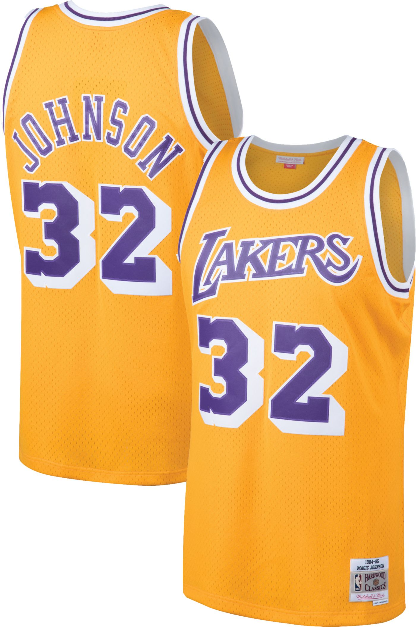 Mitchell & Ness Men's Los Angeles Lakers Magic Johnson #32 Swingman Jersey