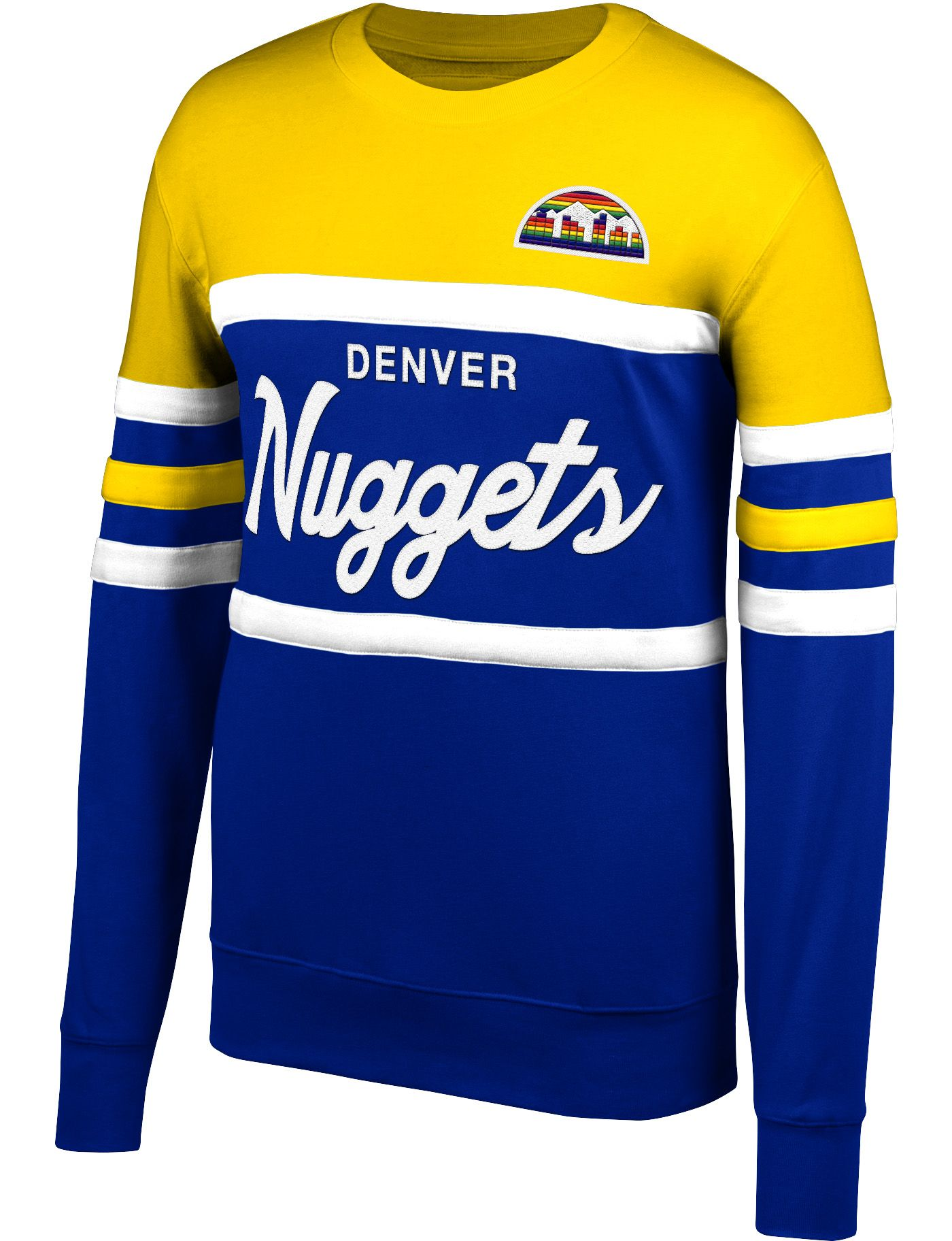 Mitchell & Ness Men's Denver Nuggets Coach Crew Neck Sweatshirt