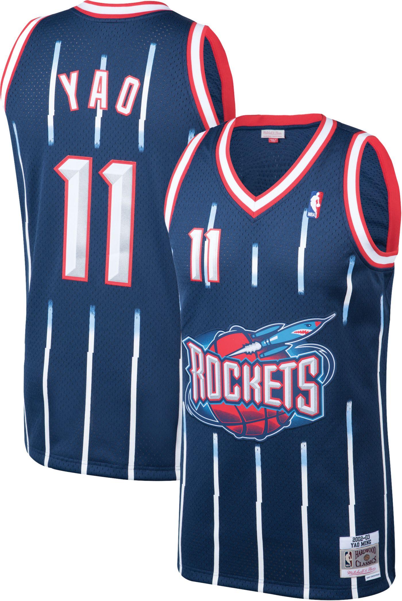Mitchell & Ness Men's Houston Rockets Yao Ming #11 Swingman Jersey