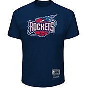 Mitchell & Ness Men's Houston Rockets Logo T-Shirt