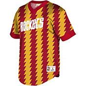 0abcd5b992b Product Image · Mitchell   Ness Men s Houston Rockets Mesh V-Neck Shirt