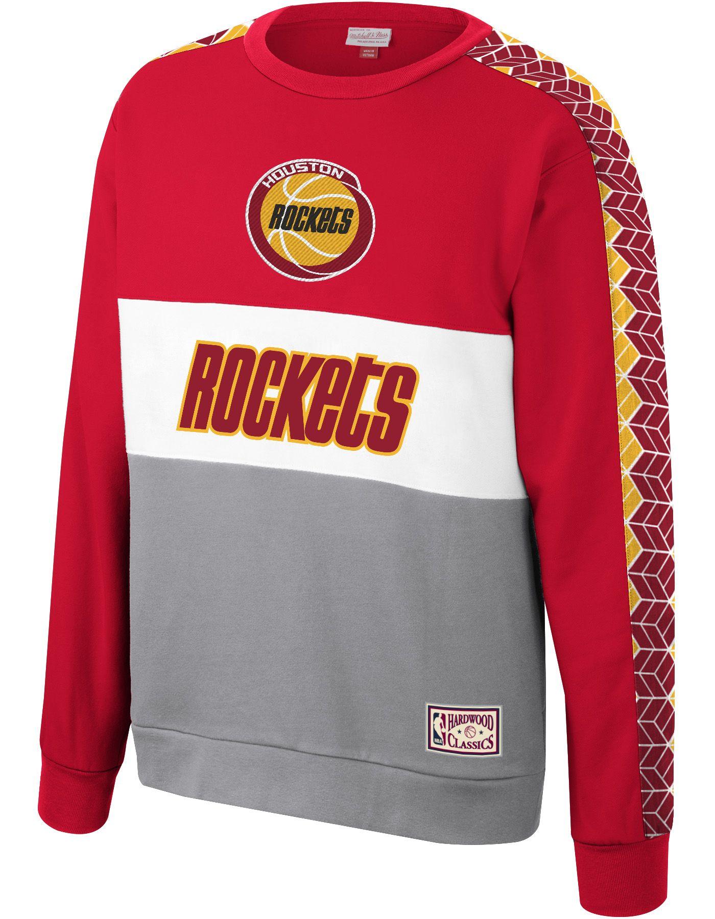 Mitchell & Ness Men's Houston Rockets Scorer Crew Neck Sweatshirt