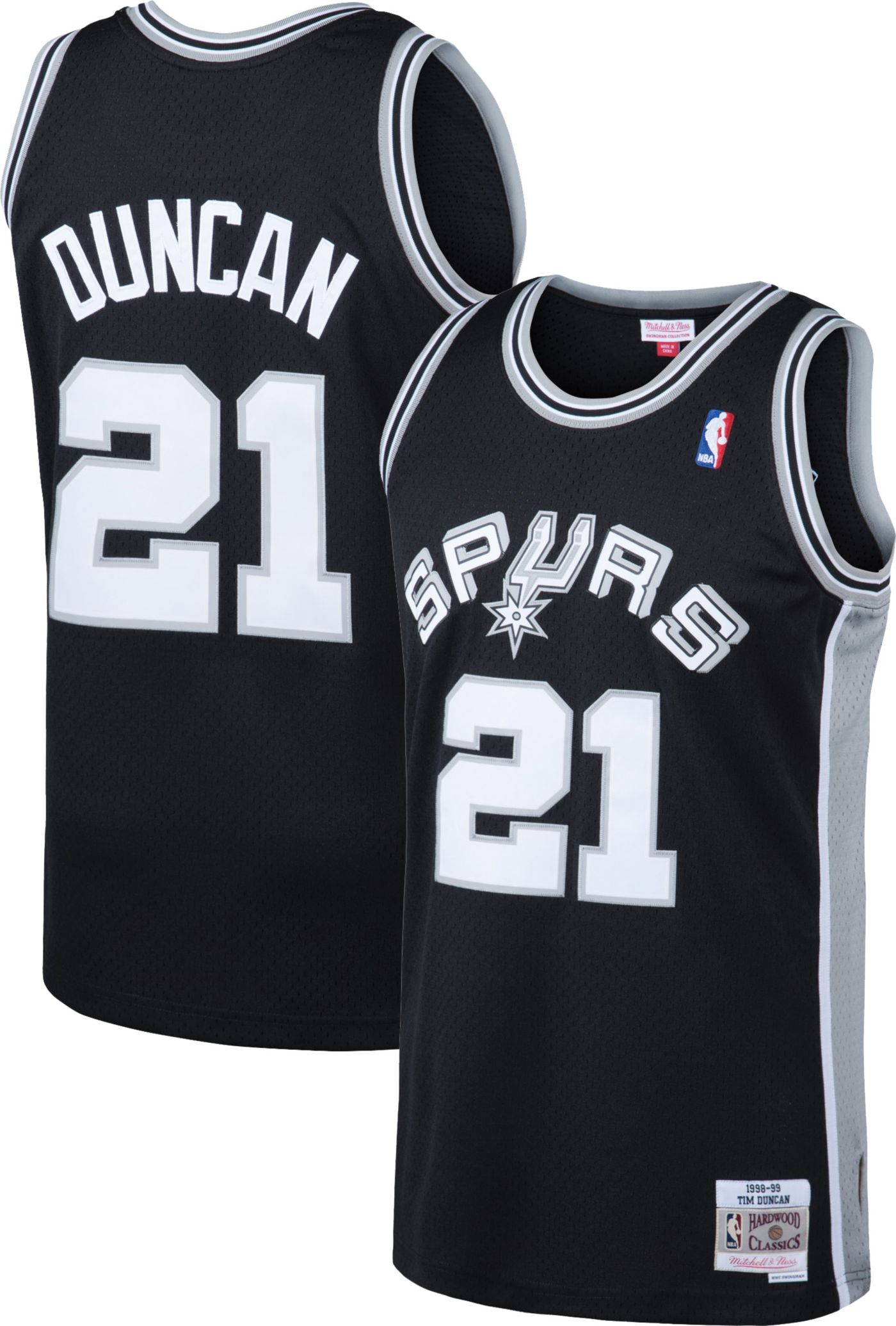 Mitchell & Ness Men's San Antonio Spurs Tim Duncan #21 Swingman Jersey