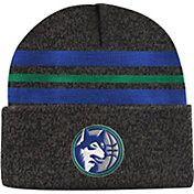 Mitchell & Ness Men's Minnesota Timberwolves Grey Cuffed Knit Beanie