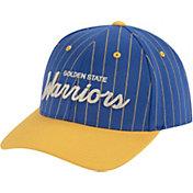 Mitchell & Ness Men's Golden State Warriors Pinstripe Adjustable Snapback Hat